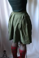 Army Fatigues Upcycled Skirt 3 by smarmy-clothes