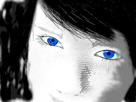 Blue Eyes 2 by silv3rpho3nix