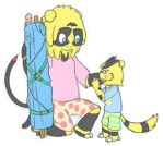 Maxis and Max Jr by FeralSonic