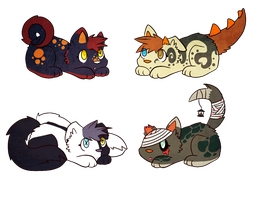 Halloween adoptables by CleverConflict