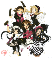 K-ON All Members Render by RikO-v
