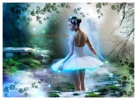 blue ballerine by roserika