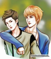 Commis 47 : Kriss Chanyeol EXO Fanart by gattoshou