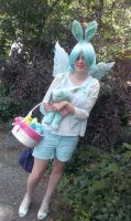 Human!Flying Mint Bunny cosplay by southpony98