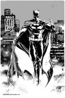 Batman - Black and White by DRAWBAK