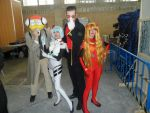 rei ayanami asuka and gendo cosplay evangelion cos by MissWeirdCat