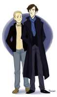 Sherlock and John Colored by jellyfishtomi