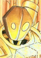 Blitzcrank Sketch Card by geardrafter