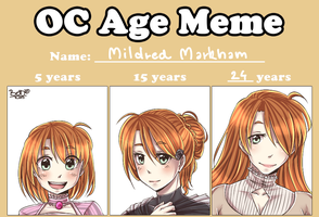 OC Age Meme - Mildred by HatoriKumiko