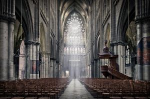 Rosace - Cathedral of Metz - France by Marcusion