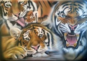 tigers by sbcustompaint