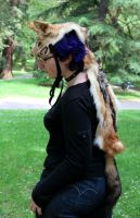 Black-backed Jackal Headdress by lupagreenwolf