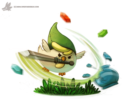 Daily Painting #930. Cucco Link by Cryptid-Creations