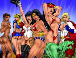 DC Girls by Ed Benes - 1000 Watchers by winchester01