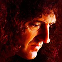BRIAN MAY PORTRAIT by JALpix