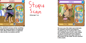 Stupid scam of the day! (x2!) by Anewdeath000