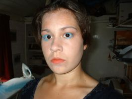 me with blue lashes again by zulou