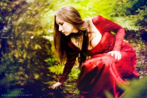 Elf princess in a wood by Arwenphoto