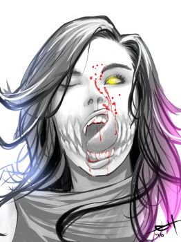 Tasty - Mileena sketch by eHillustrations
