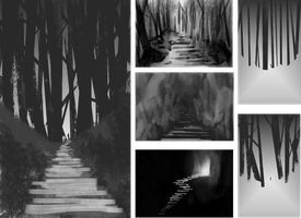 Digital thumbnails for first uni work by Roman-Stevens