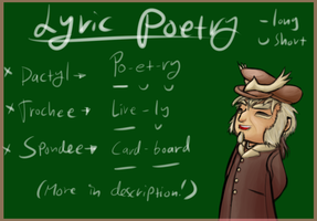 PI: English/Linguistics Assignment: Lyric Poetry! by Bulbiekins