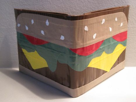 Cheeseburger Duct Tape Wallet by jodawg