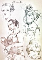 Sketchbook - Teh Ladiez by AenTheArtist