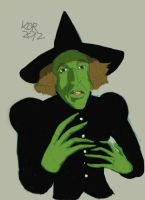 DSC Wicked Witch (Wizard of Oz) Colour Sketch by KOR-Design