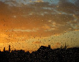 Rain on the window.. by Cahaya-Chan