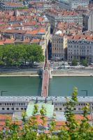 Footbridge of Law Court and SAONE River to LYON by A1Z2E3R