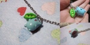 Catbug and Sugar Pea Necklace by Cryssy-miu