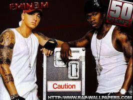 Eminem vs 50 Cent by xHeroess