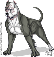 Fredward the pitbull by GlowyDaBstrd