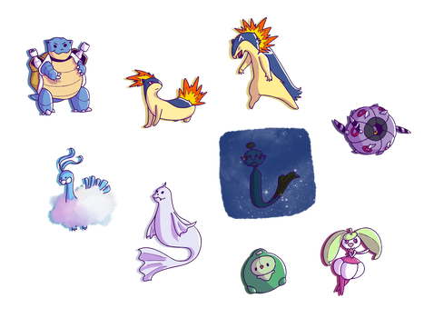 :PG: tiny evolutions by LunePotter