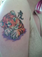 My first tattoo: Tiger cub by Jempower