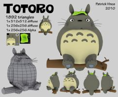 3d Totoro by PatVince