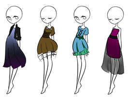 Dress adopts NYP(customs not shown) by LukasAthenian