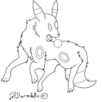 Umbreon Lineart by Joltstorm684