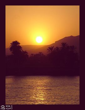 Nile Sunset by Rykan-