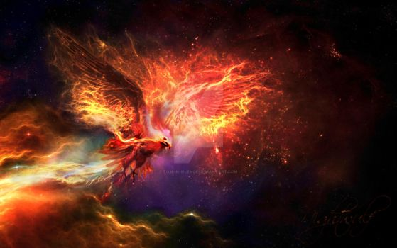 Phoenix from Nebula - fractalius by Tom-in-Silence