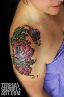 Peony tattoos by Phedre1985