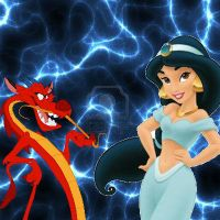Jasmine and Mushu by Mommy-of-Ein