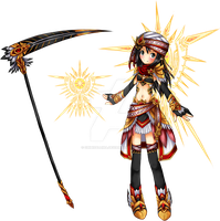 Elsword RPs - IceBurner Event - Golden Falcon Set by ChibiSalLina