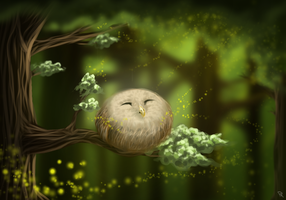 Little nice owl ^^ by PatronusZone