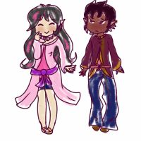 Angel and Dorien Outfits by TeLinkfan1