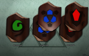Deku Shield Variants by BLUEamnesiac