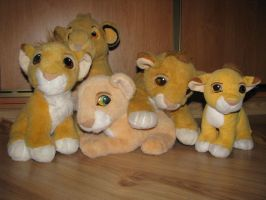 My Lion King Plushies xD by snow1wolf3