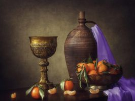 Still life with tangerines by Daykiney