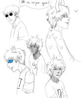 Homestuck characters by Fox-the-Furious