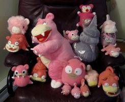 Slowpoke Line Plush Collection by caffwin